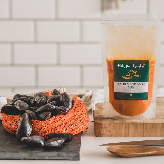 Cornish Mussels and Sweet & Sour Sauce