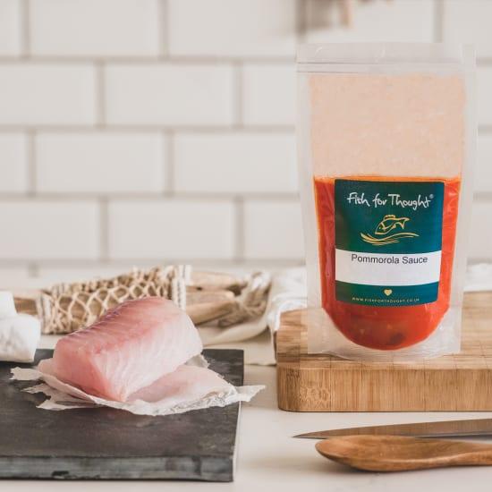 Cornish Cod, Gnocchi Pommorola, Roast Courgette and Basil Puree