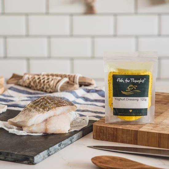 cod fillet and yoghurt dressing