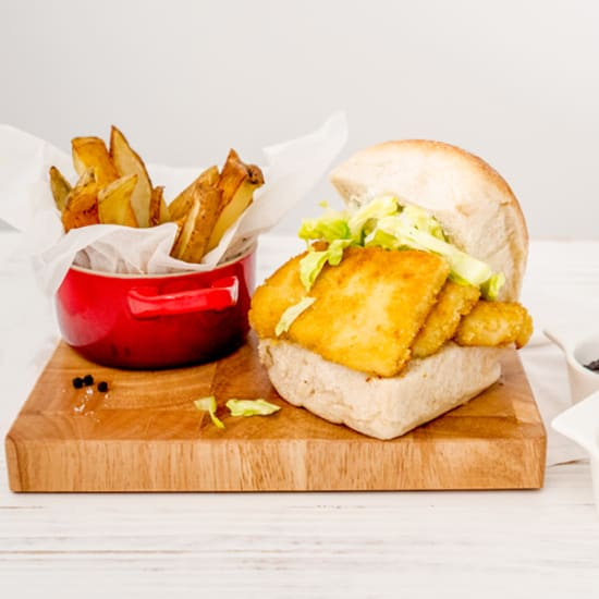 FFT Fish Finger Sandwich and Chips