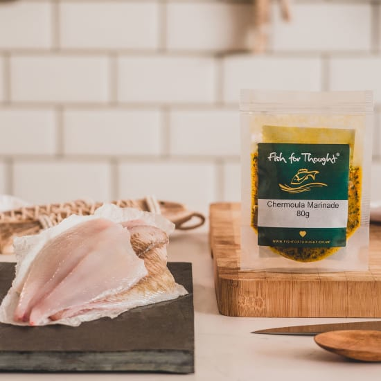 plaice fillet and chermoula marinade