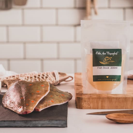 cornish plaice and fish stock