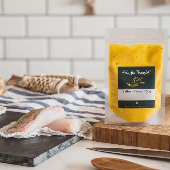 cornish pollack and saffron mussel sauce