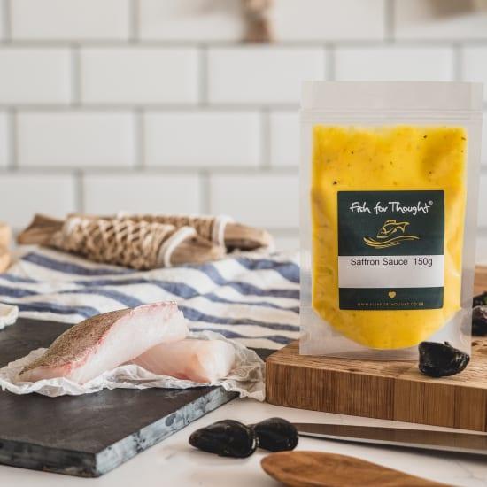 Cornish Pollack, Spinach, Parmentier Potatoes and Saffron Mussel Sauce