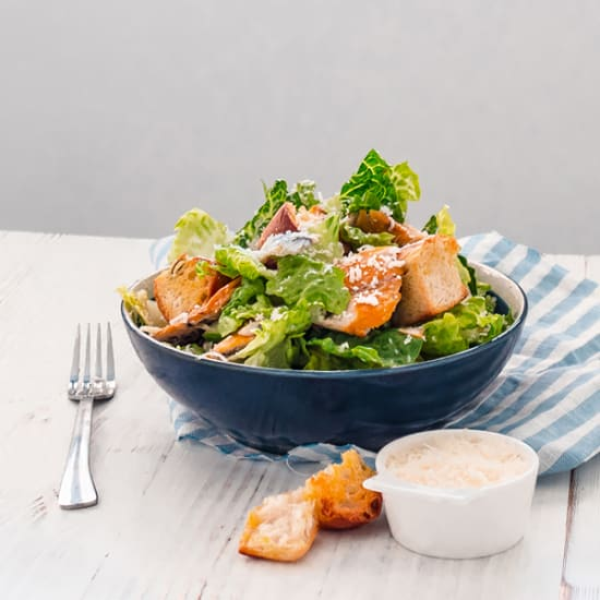 Smoked Mackerel Caesar Salad