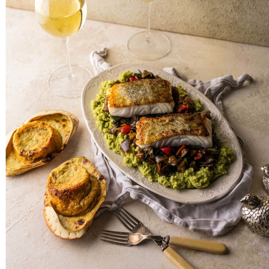 crab souffle with cod