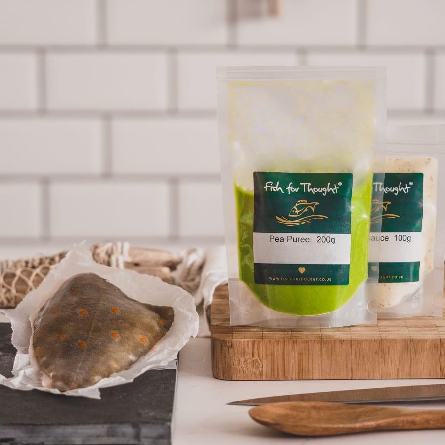 Cornish Plaice Fillet with Pea Puree and Tartare Sauce
