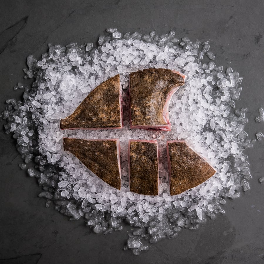 turbot trimmed tranched frozen
