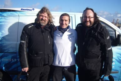 Paul Trudgian with The Hairy Bikers
