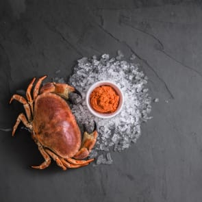 Hand-Picked Brown Cornish Crab Meat (Frozen)
