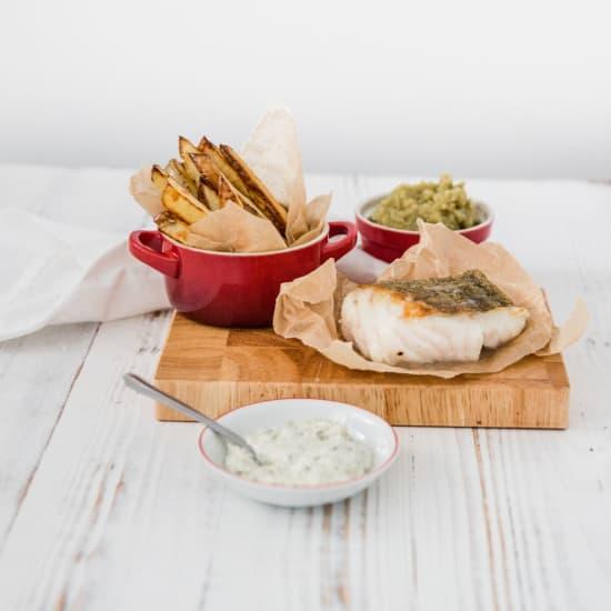 Cod, Chips & Mushy Peas