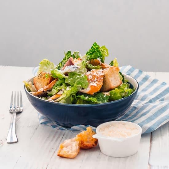 Smoked Mackerel Caesar Salad