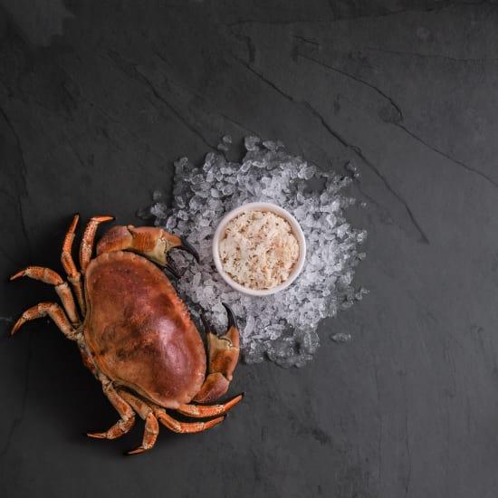 Hand-Picked White Cornish Crab Meat (Frozen)