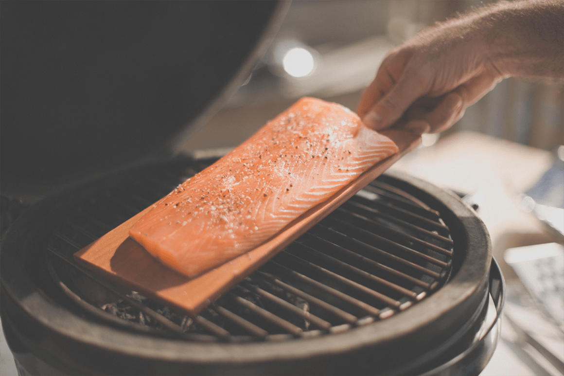 Try using a soaked cedar plank on the barbecue