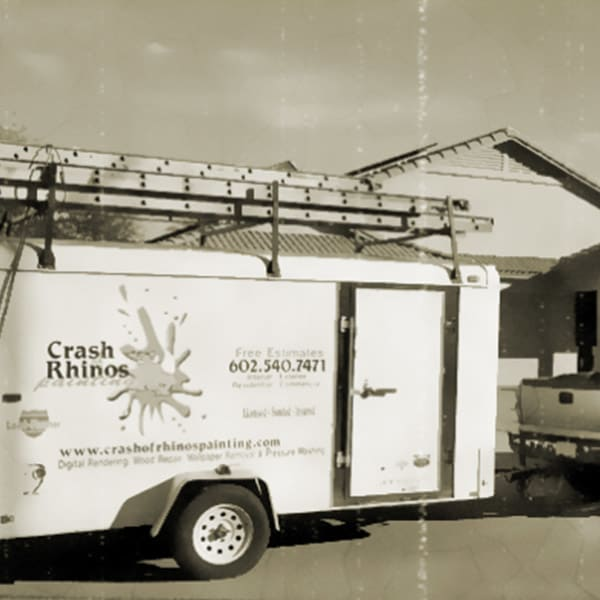 This is our original trailer from back when Crash of Rhinos was first started with just a single painting crew.