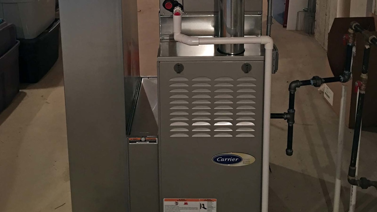 With a new Carrier gas furnace just like this one, your home will be set for a warm and comfortable winter ahead.
