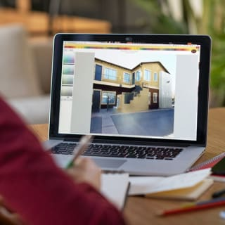 Our Professional Color Consultant prepares digital renderings that show the homeowner their color options.