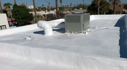 We specialize in foam roofing repairs here in Phoenix, and we can fix or replace any foam roof—no matter how large the building is!