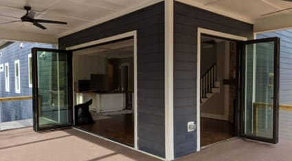 Have us install a new bifold door that provides your home with unprecedented access to your deck and backyard.