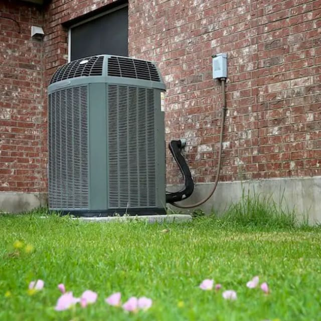 An air conditioner has been serviced by King Heating, Cooling & Plumbing