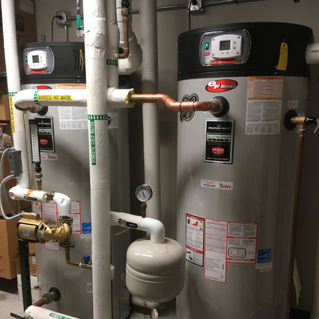 Our certified plumbers install new water heaters in both homes and businesses here in Chicago and Northwest Indiana.