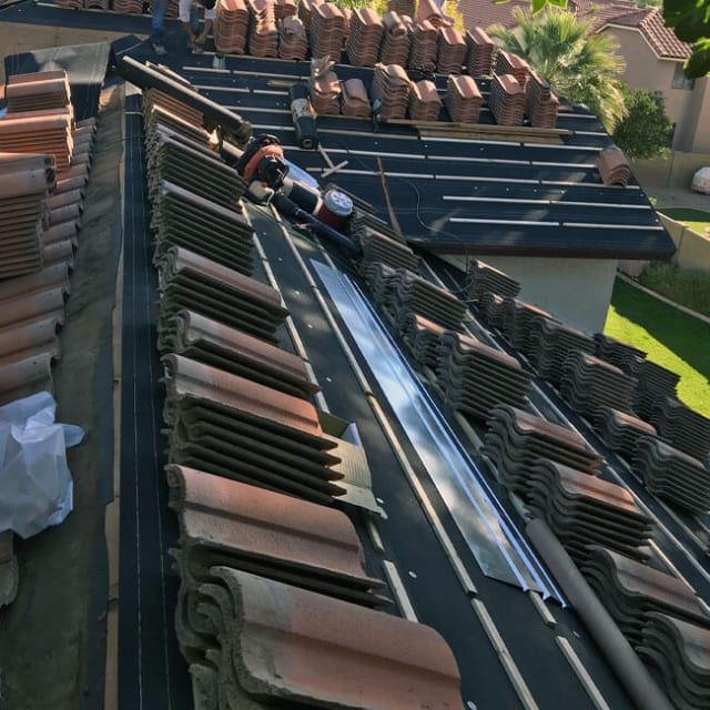 For our Phoenix roofers, professionalism and quality are at the heart of everything we do—including this tile roof installation project.