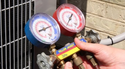 As part of our thorough, 40-point AC tune-up in Chicago, our technician will check your air conditioner's refrigerant levels.