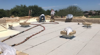 If your home needs a new flat roof, talk to our roofing professionals about your options and different roofing materials.