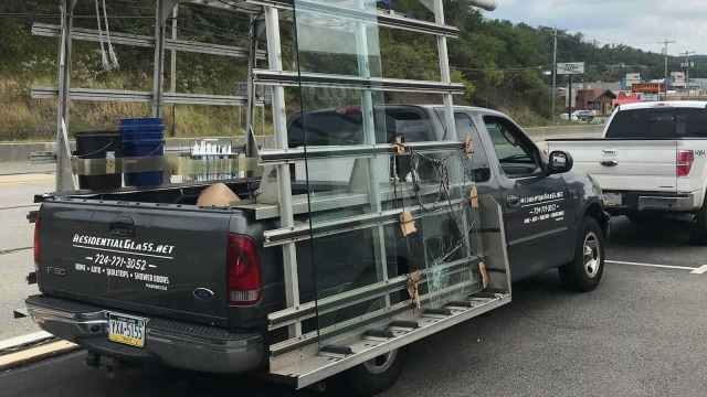 We transport several panes of new glass to a local home here in the greater Pittsburgh area.