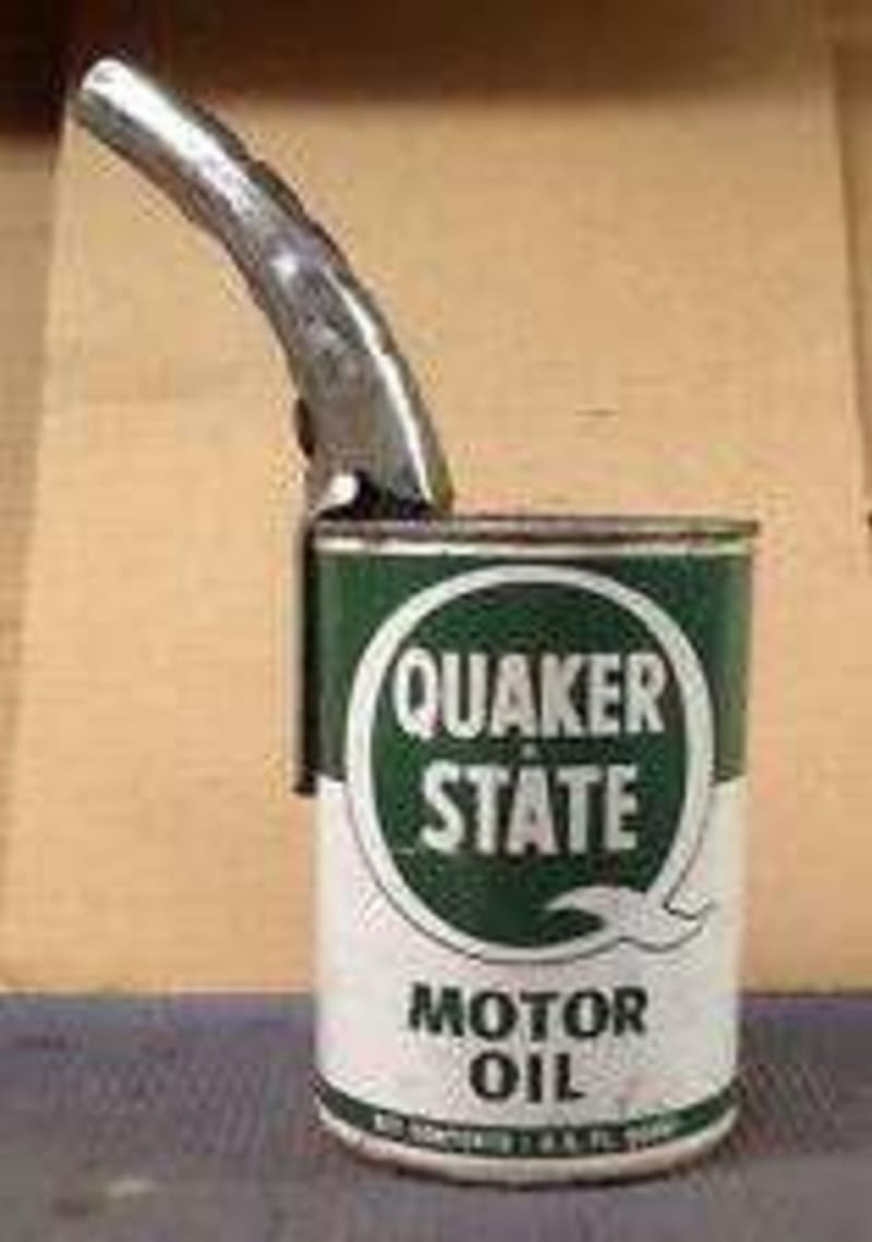 Vintage allison piercing oil can pour spout for sale in for How to get motor oil out of wood