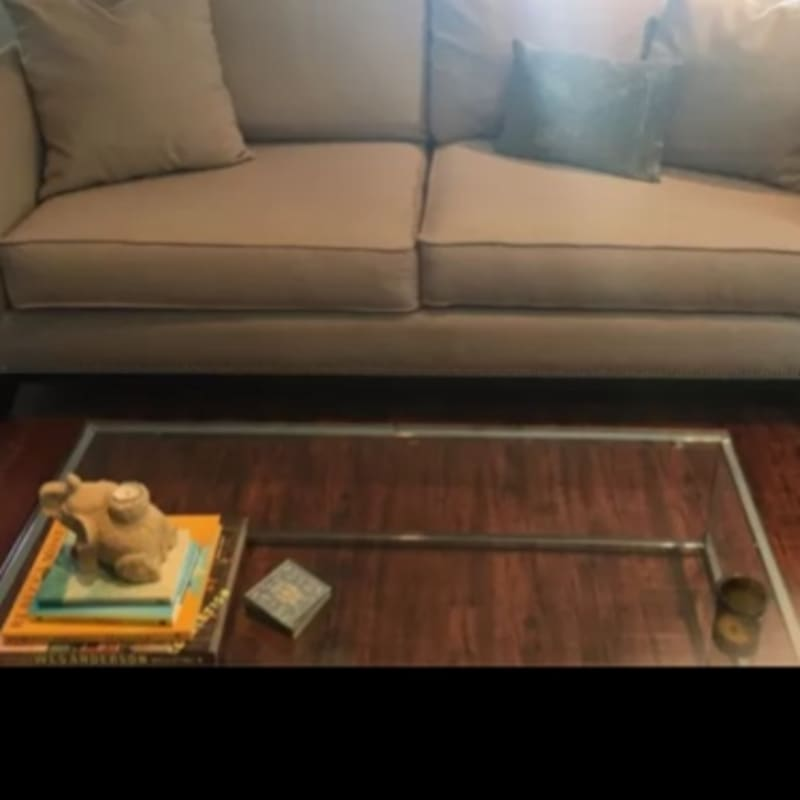 Modern Cb2 Glass Coffee Table For Sale In Los Angeles Ca