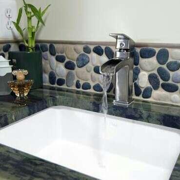 Handyman Services Mosaic Pebble Backsplash Tile Installation