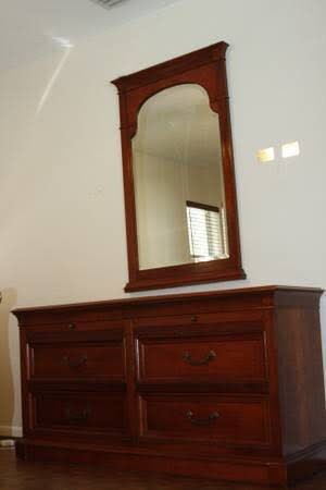 Used ethan allen bedroom furniture for sale all in beautiful cherry wood from t for sale in for Ethan allen bedroom night stands