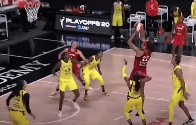 The Las Vegas Aces outlasted the Seattle Storm, 86-84, to clinch the No. 1 seed in the WNBA Playoffs, which start in only two days.