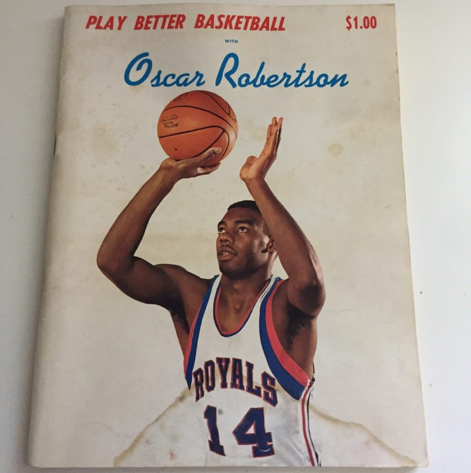 I found a book about playing better basketball by Oscar Robertson in my childhood room while going through some old things. Check it out!