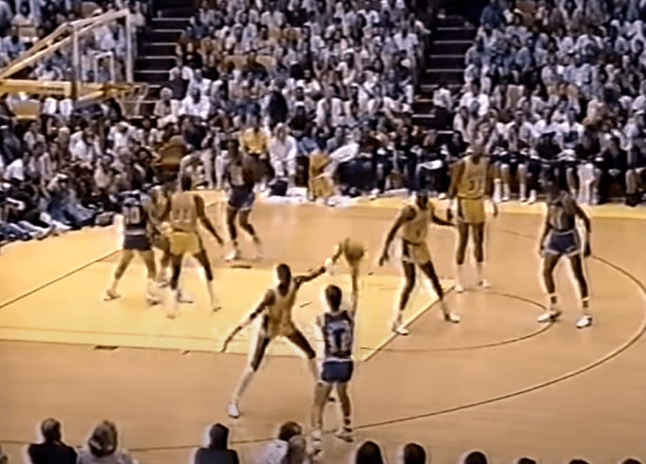 On this day 32 years ago, John Stockton dished out 20 assists in a losing effort in Game 7 of the Western Conference Semifinals against the Lakers.