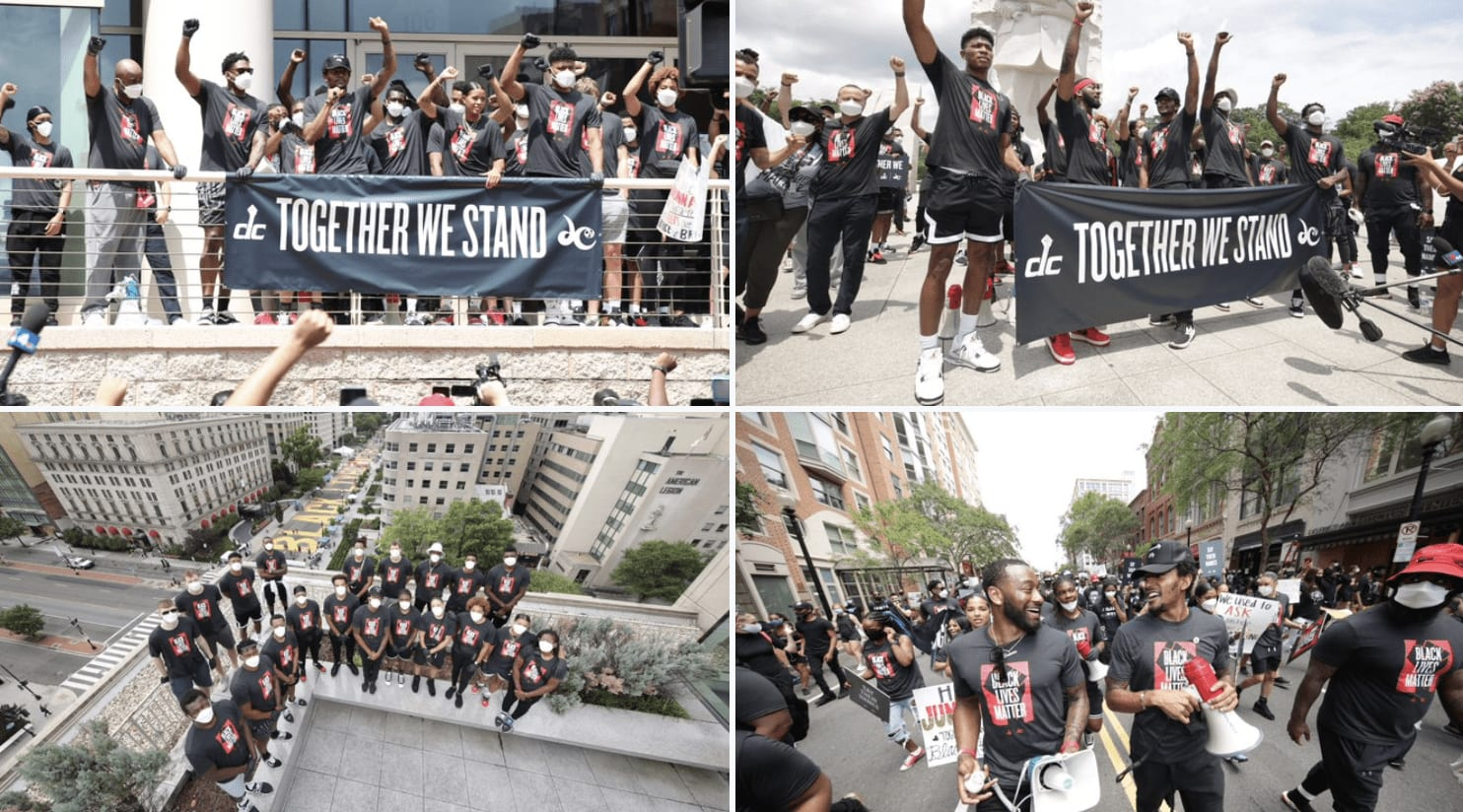 Juneteenth D.C. March Led by Mystics, Wizards