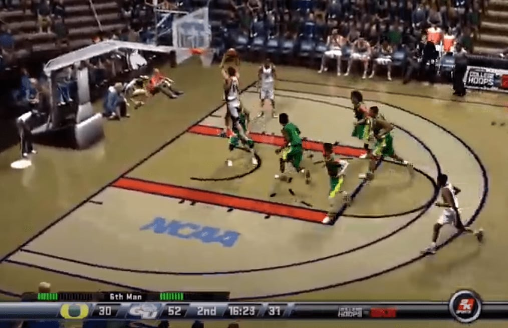 The Zags demolished Oregon, 84-51, in the Sweet 16 of Reddit's virtual tournament to advance to the Elite Eight for the first time since 2019.