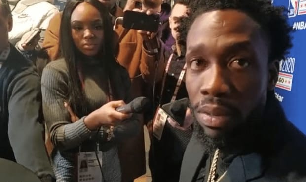 """At NBA All-Star Weekend, Patrick Beverly of the Los Angeles Clippers said that he """"learned how to play the right way"""" in Europe."""