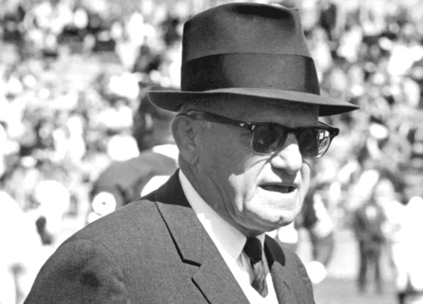 George Halas isn't only an important figure in professional football history: he also founded the Chicago Bruins of the American Basketball League in 1924.