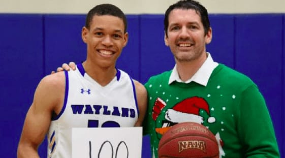 JJ Culver scored 100 points for Wayland Baptist as his team defeated SW Adventist, 124-60, in the second-ever time an NAIA player has hit the mark.