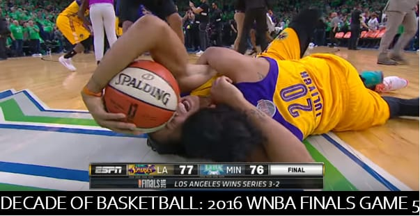 The 2016 WNBA FInals Game 5 between the Minnesota Lynx and Los Angeles Sparks was one of the greatest moments in the last 10 years of basketball.