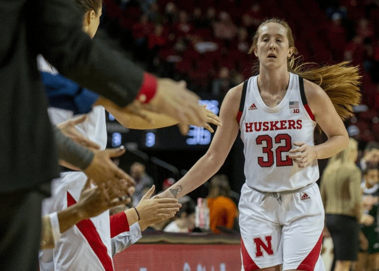Nebraska guard Leigha Brown went off again, this time scoring a season-high 25 points with four triples, to lead the Cornhuskers to yet another victory