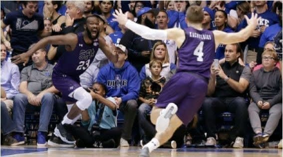 After making the game-winning layup for Stephen F. Austin in the team's massive upset at Duke, Nathan Bain has seen his GoFundMe for his family skyrocket.