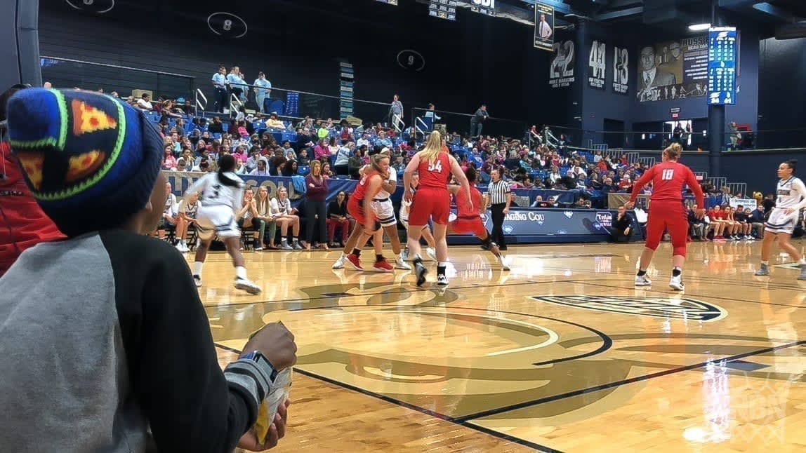 Midweek Day Games are for Kids, Schedule Them Akron Women's Basketball 2019 Duquesne kids game