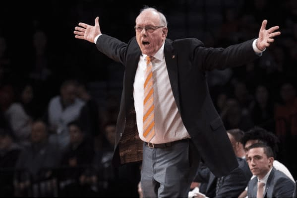 """Syracuse head coach Jim Boeheim called the lack of fan support for his team this season """"sickening"""" following a 74-62 home victory over Oakland."""