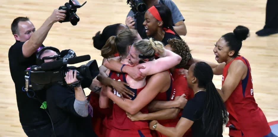 The Washington Mystics won their first-ever WNBA championship last week, and Michelle Smith takes us inside the locker room of the all-time great squad.
