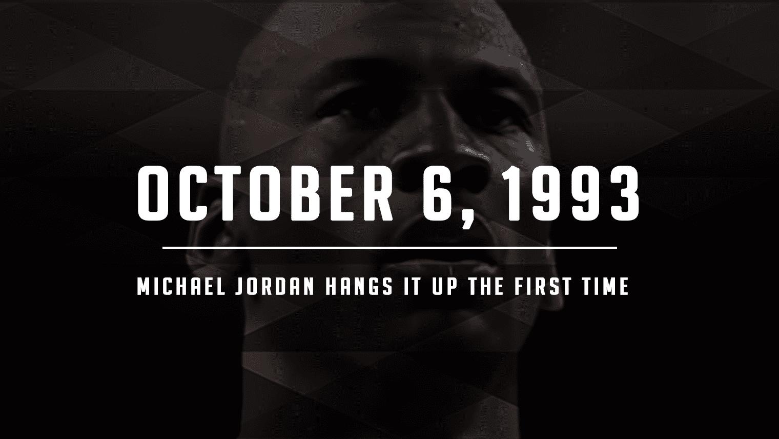 Michael Jordan Hangs Them Up, Take One
