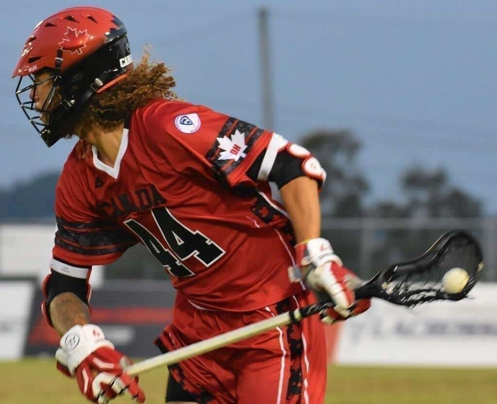 Dogs have always been part of Tyson Bell's life, and they help provide him with the same stress relief he finds in playing lacrosse.