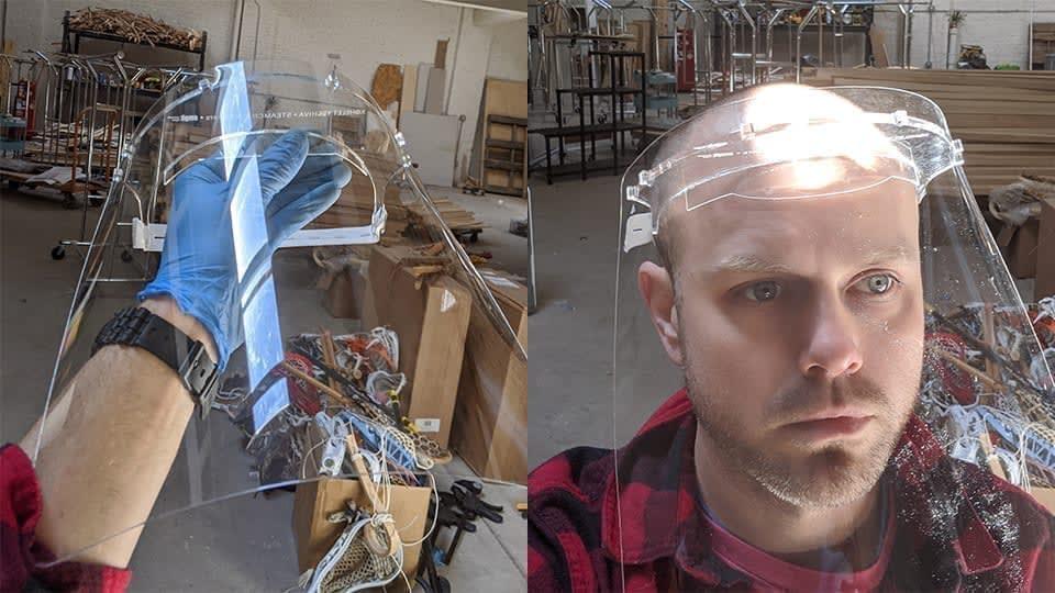 reusable face shields for medical pros